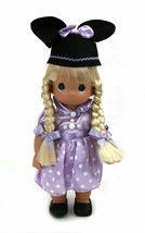 "Precious Moments Blonde Mouseketeer 12"" Vinyl  Doll Spring Easter Purple - $37.31"