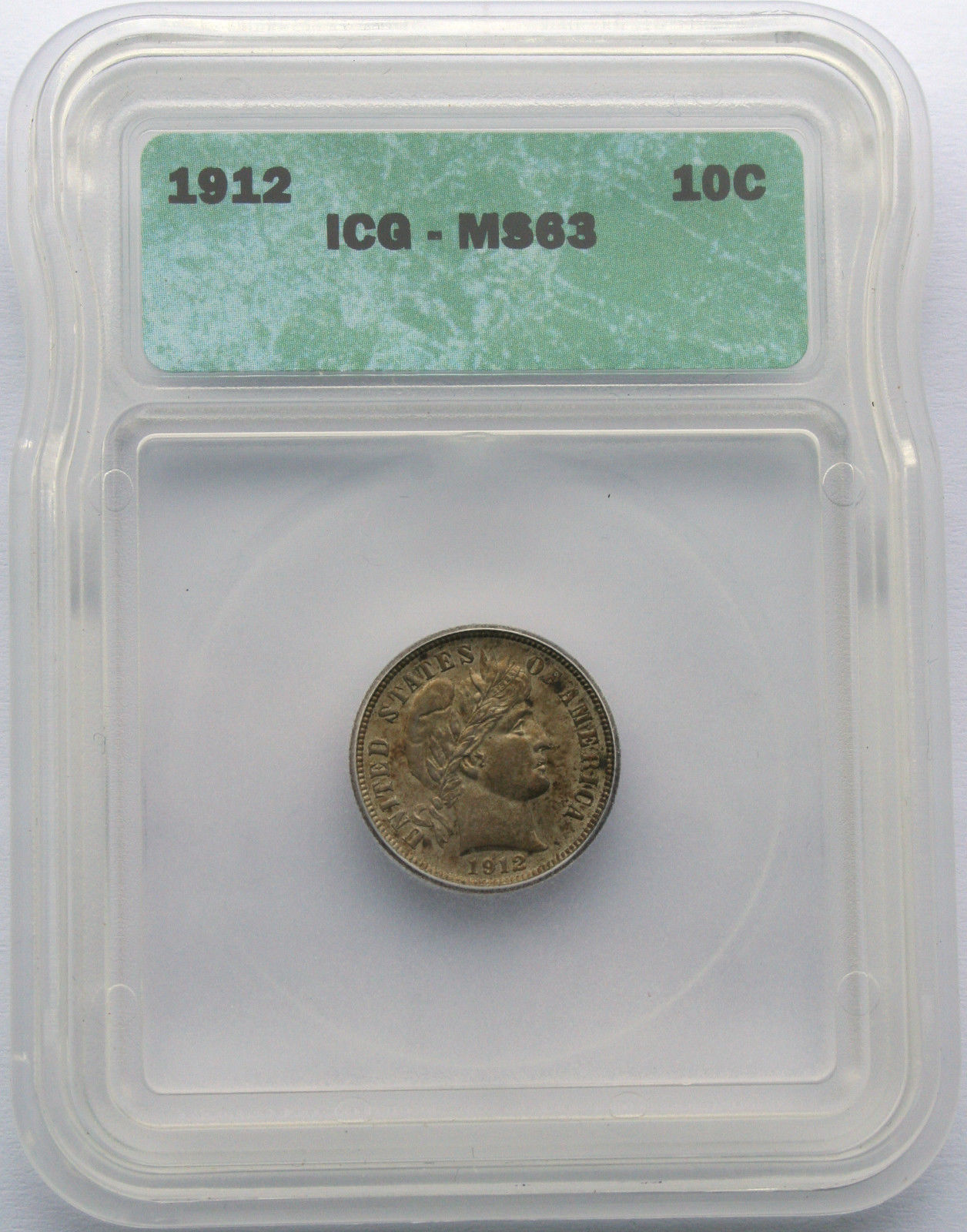 1912 Liberty Barber Head Dime Silver MS63 Coin Lot SR 437