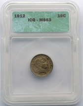 1912 Liberty Barber Head Dime Silver MS63 Coin Lot SR 437