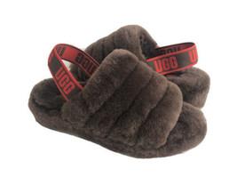 Ugg Fluff Yeah Slide Burnt Cedar Mocassin Slip On Sandal Us 7 / Eu 38 / Uk 5 - $111.27