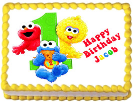 BABY SESAME STREET Edible cake topper image decoration - $6.50+