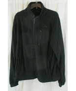 Polar Edge Men's Large Long Sleeve Full Zip Up Fleece Jacket Black - $29.69