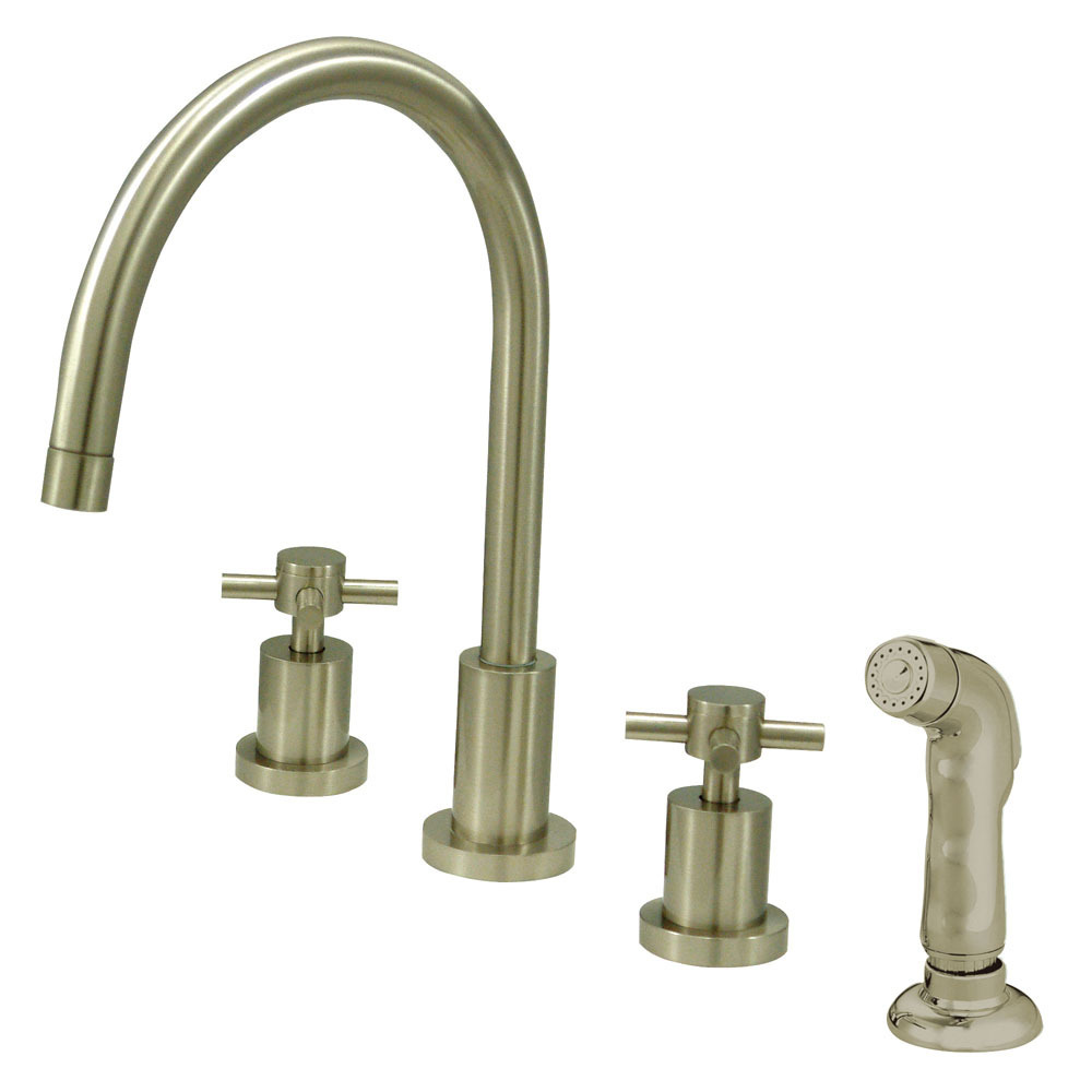 Primary image for Concord Double Handle Widespread Kitchen Faucet with Non-Metallic Sprayer