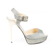 Jimmy Choo Linda Metallic Platform Sandals SZ 36.5 - $210.00