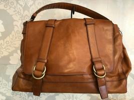 COLE HAAN Brown Leather Flap Handbag/Shoulderbag $350 - $139.49
