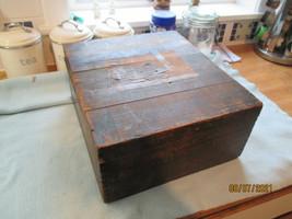 Antique Edwardian / Victorian Wooden Storage  Box - $41.39