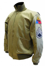Fury Brad Pitt Wardaddy Battle Tank Commander WW2 Bomber Military Cotton Jacket image 3