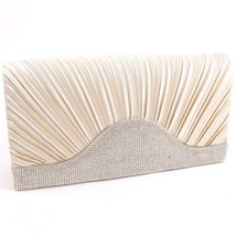 WYQ071-CHP Champagne with Clear Stones Fashion Evening Clutch Bag - €13,87 EUR
