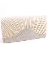 WYQ071-CHP Champagne with Clear Stones Fashion Evening Clutch Bag - $16.00