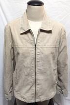St Johns Bay Khaki Washable Suede Zip Jacket Coat Womens XL  X Large Poc... - €13,38 EUR