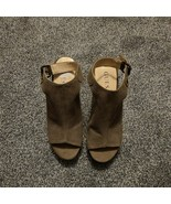 Guess Womens 6.5 Olive Green Open Toe Wedge Mesh Sandals Espadrille - $17.59