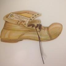 Vintage Hallmark Greeting Card Die Cut Shoe w/Laces Wedding Congratulati... - $10.73