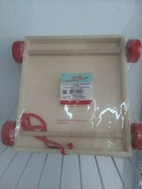 Hard to find WAGON OF BLOCKS Wood Wooden Building Learning Color NEW! image 2