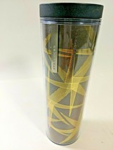 Starbucks 2013 Travel Tumbler Tall Cup Brown With Gold Stars 16oz Hot Co... - $14.79