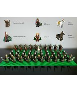 63pcs Lord of the Rings Theoden Eowyn Archers Riders of Rohan Army Minif... - $119.99