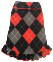 Cozy Classic Red/Black Argyle Plaid Fleece Pullover Tank Dress - $27.98+