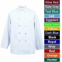Men's Chef Coat Chef Shirt Cook Coat Barista Baker Uniform Restaurant Cl... - $26.98