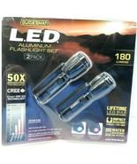 Guidesman L.E.D. Aluminum Flashlight Set 2 Pack 180 Lumens! - $19.33