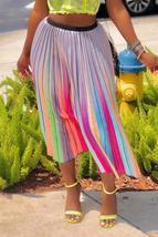 Sweet Printed Multicolor Mid Calf  Skirt - $27.20