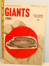 1964 San Francisco Giants Baseball Program Scorecard vs Phillies - $23.76