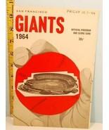 1964 San Francisco Giants Baseball Program Scorecard vs Phillies - $23.76