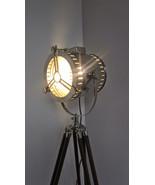 Vintage Regency Floor Lamp With Tripod Nautical E27 Modern Searchlight L... - $146.41