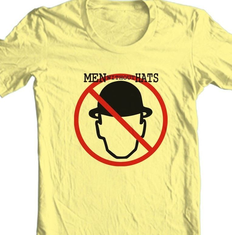 Men Without Hats T-shirt Safety Dance retro 80s music graphic 100% cotton tee