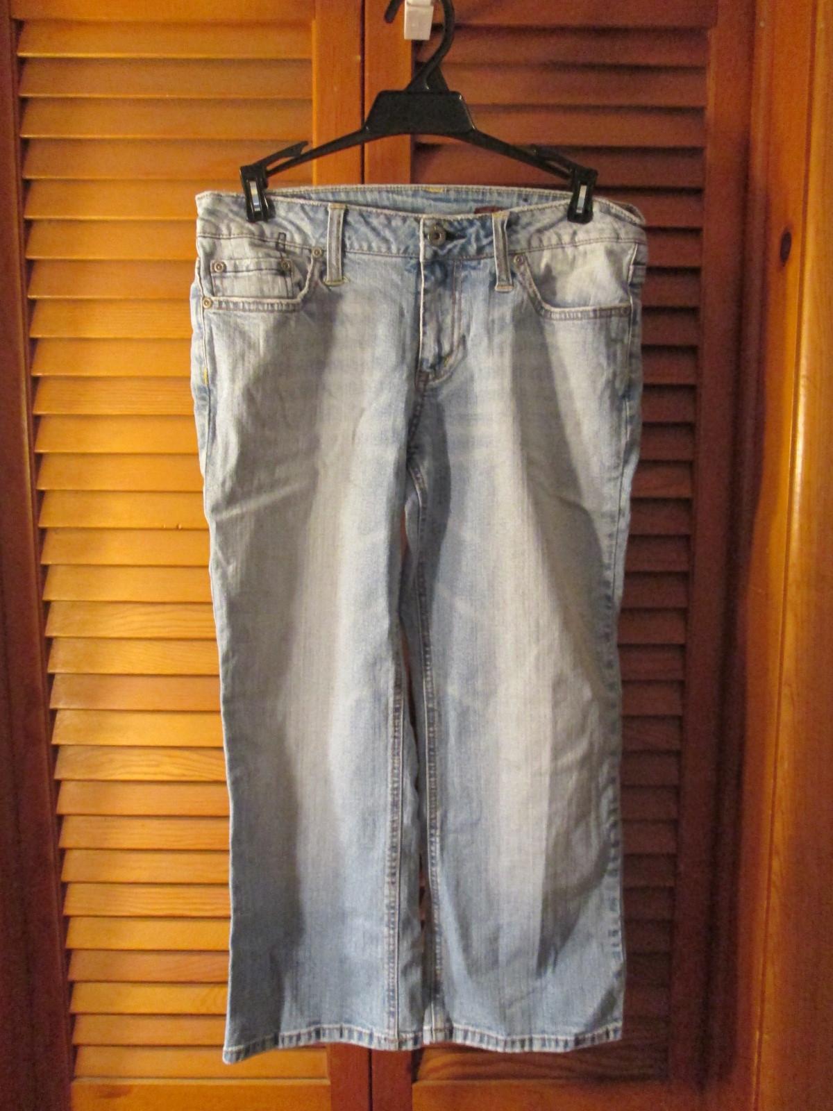 Womens Jeans Size 7 Bongo Light Blue Denim TF201/ALS