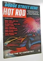 Vintage HOT ROD MAGAZINE DECEMBER 1965 Corvette  VINTAGE SPORTS CAR COLL... - $8.00