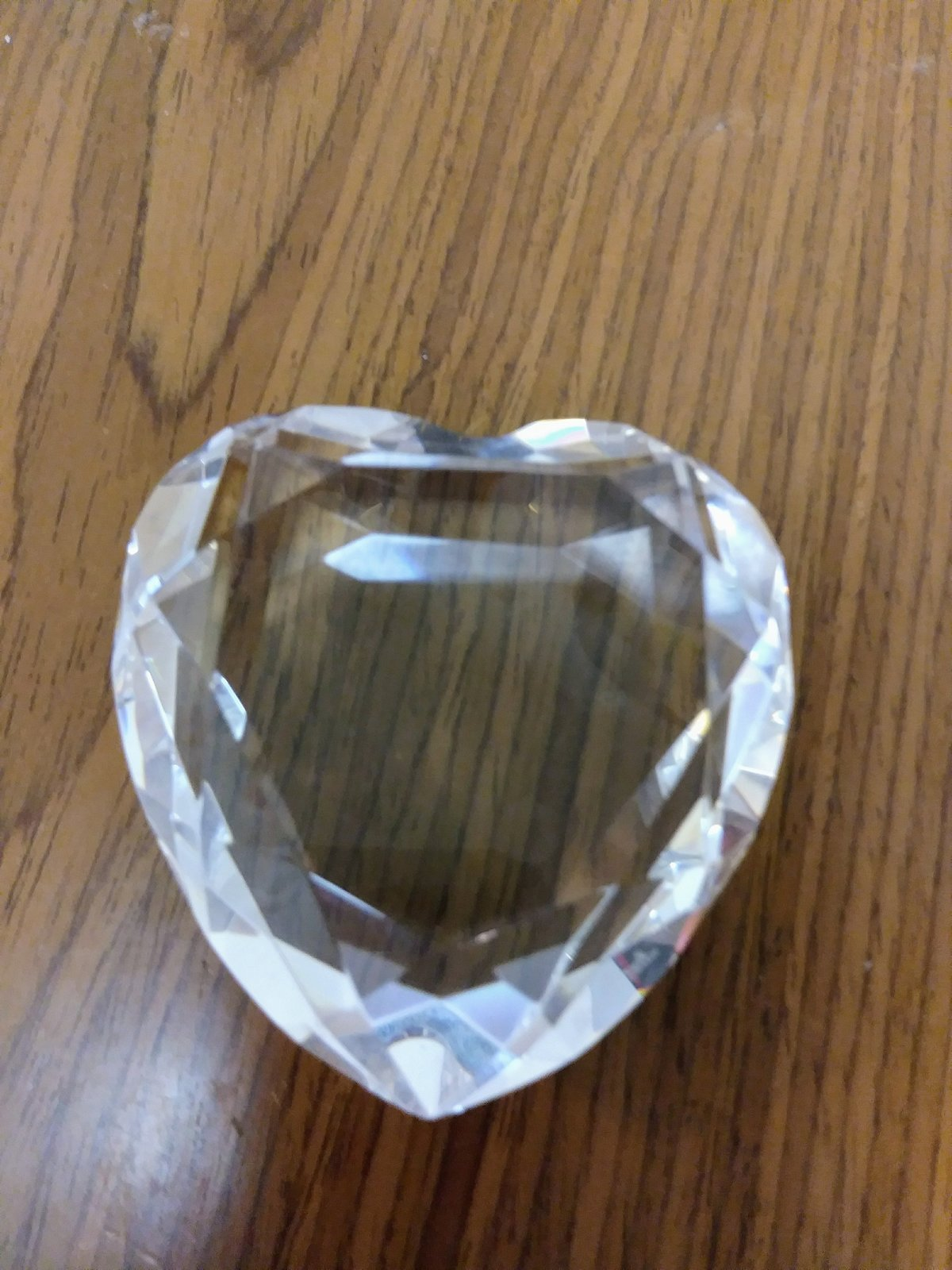 Crystal Glass Heart Diamond Shaped Crystal Paperweight Clear Glass