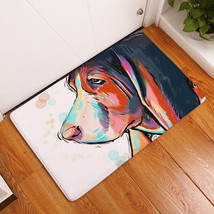 Hot!Flannel Dog Face Printed Bathroom Bedroom Bath Mat Floor Rug Carpet ... - $6.12+