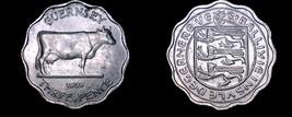 1959 Guernsey 3 Pence World Coin - Elizabeth II - $6.99