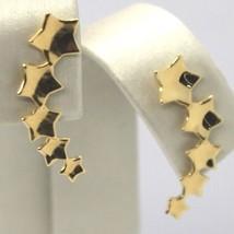 Boucles D'Oreilles Pendantes or Jaune 18K, Fila De Étoiles, Étoile, Or 750 image 1