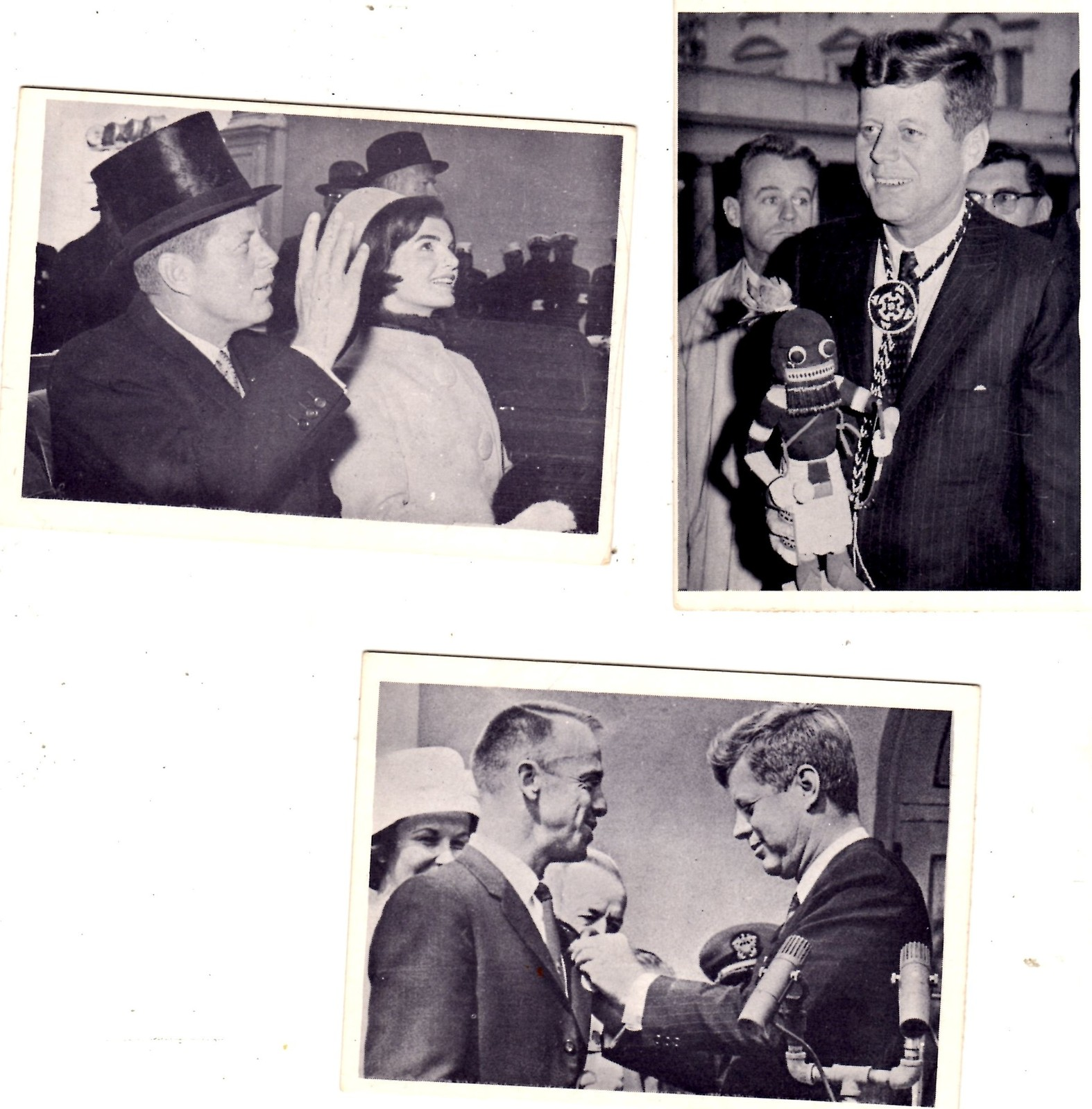 Primary image for JOHN F. KENNEDY VINTAGE TRADING CARD 1964 ROSAN PRINTING - lot of 34 cards