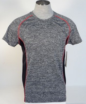 90 Degree By Reflex Cationic Charcoal Short Sleeve Athletic Shirt Mens NWT - $37.49