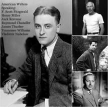 American Writers Speaking on CD F. Scott Fitzgerald JACK KEROUAC Henry Miller OP image 1
