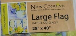 New Creative 26142 Floral Indoor Outdoor Garden Flag Open image 2
