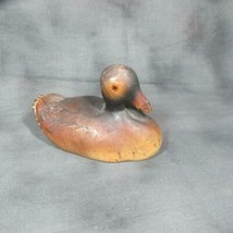 "ca 1930 Miniature (4 3/4"") Carved & Painted Wooden Duck - $14.01"