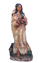 11 Inch Indian Girl w/Baby Statue Figure Figurine Warrior Indio India American - $33.00