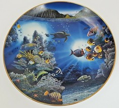 Danbury Mint Underwater Paradise Serenity Of Waipio Plate 1991 Robert Ly... - $12.16