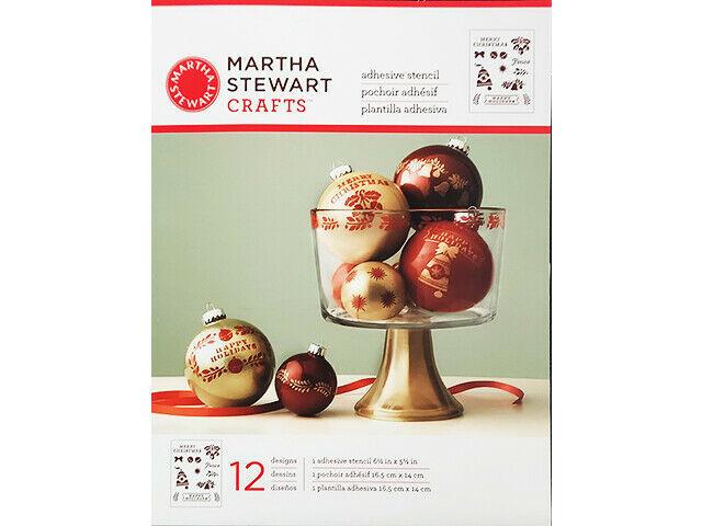 Martha Stewart Crafts Holiday Bells & Phrases Self-Adhesive Stencil #33004