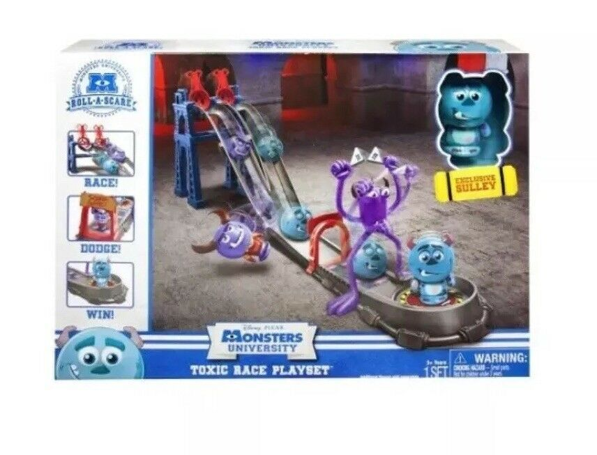 Monsters Inc University Toxic Race Playset Exclusive Sully Figure Sulley NewAAL1 - $18.37