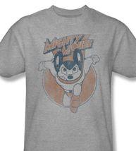 Mighty mouse t shirt retro superhero vintage cartoon graphic tee heather gray cbs935 thumb200