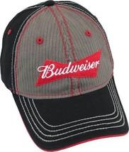Budweiser Logo Beer American USA Herringbone Hat Adjustable Strap SBDC-5... - $18.99