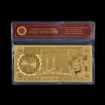 WR Saudi Arabia Souvenir 100 Riyals Polyester Banknote Gold Foil Busines... - $5.00