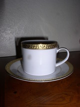 Gold Buffet by Royal Gallery  Cup & Saucer Set - White with Gold Trim - ... - $19.95