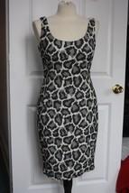 DVF Diane von Furstenberg Sz 8 Arianna Leopard Print Mixed Media Sheath Dress - $77.22
