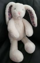 Manhattan Toy Pattern Pals Bunny Rabbit Plush Floral Ears Stuffed Cream Color - $27.71
