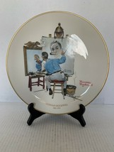 """Gorham Norman Rockwell Triple Self Portrait Collector Plate 10 1/2"""" 1978 - $10.00"""