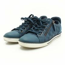 Louis Vuitton Men's Sneaker Zip Up Line Blue Damier Shoes Size 5 (24.5 cm) - $606.67